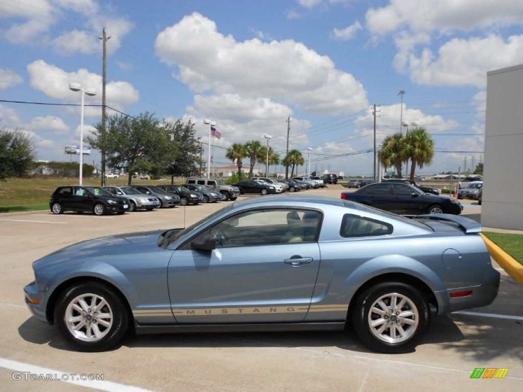 Windveil Blue Metallic 2006 Ford Mustang V6 Premium Coupe Exterior Photo #53384018