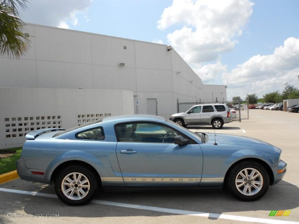 Windveil Blue Metallic 2006 Ford Mustang V6 Premium Coupe Exterior Photo #53384102