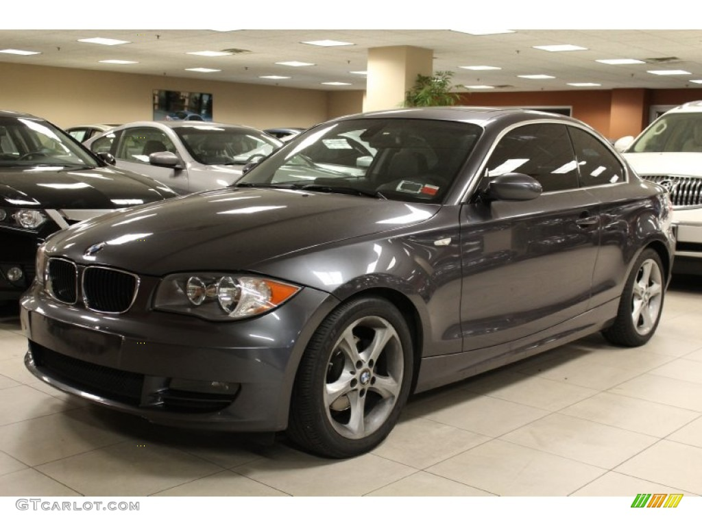2008 sparkling graphite metallic bmw 1 series 128i coupe 53328075 car color. Black Bedroom Furniture Sets. Home Design Ideas
