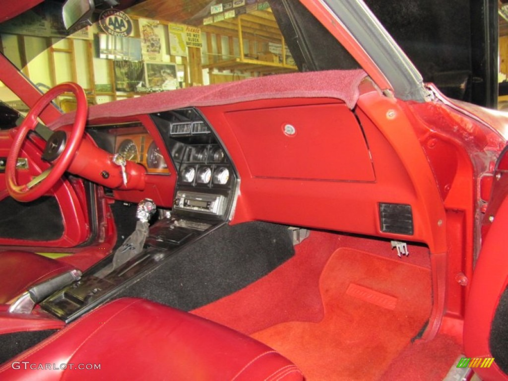 Dark Red Interior 1982 Chevrolet Corvette Coupe Photo