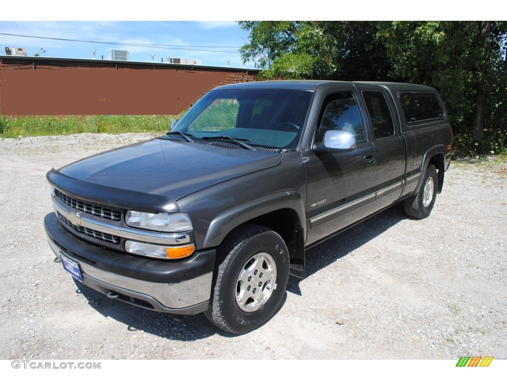 Medium Charcoal Gray Metallic 2002 Chevrolet Silverado 1500 LS Extended Cab 4x4 Exterior Photo #53401346