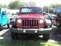 2012 Deep Cherry Red Crystal Pearl Jeep Wrangler Rubicon 4X4  photo #2