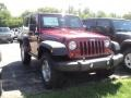 2012 Deep Cherry Red Crystal Pearl Jeep Wrangler Rubicon 4X4  photo #3