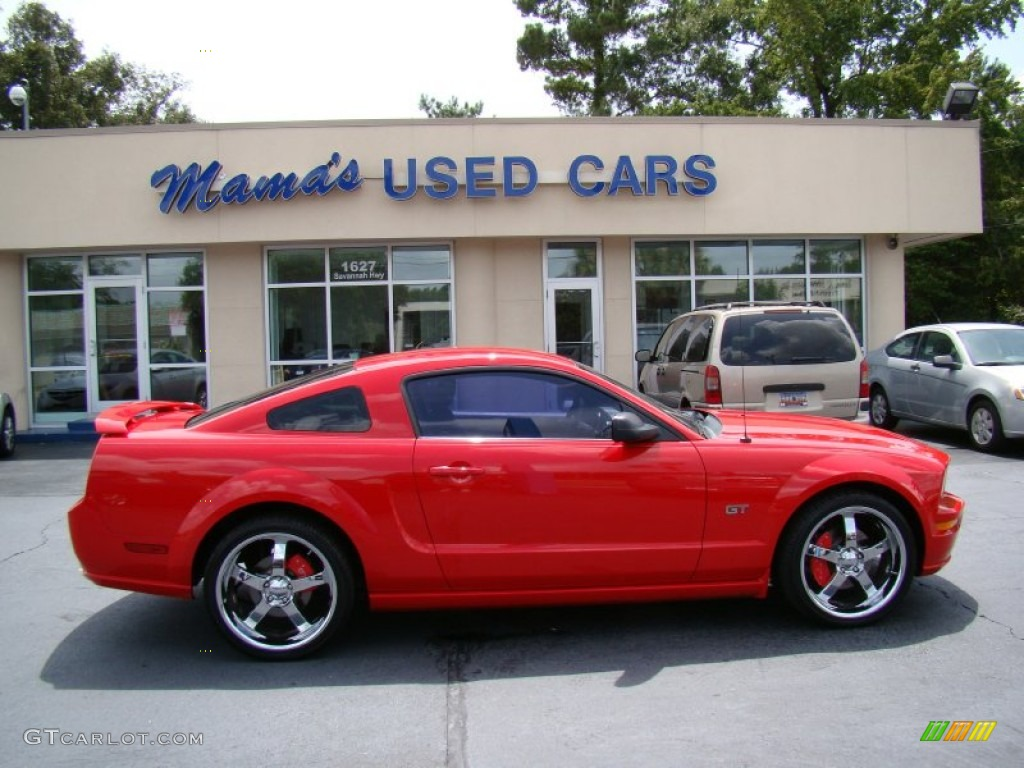 2007 Mustang GT Deluxe Coupe - Torch Red / Dark Charcoal photo #1
