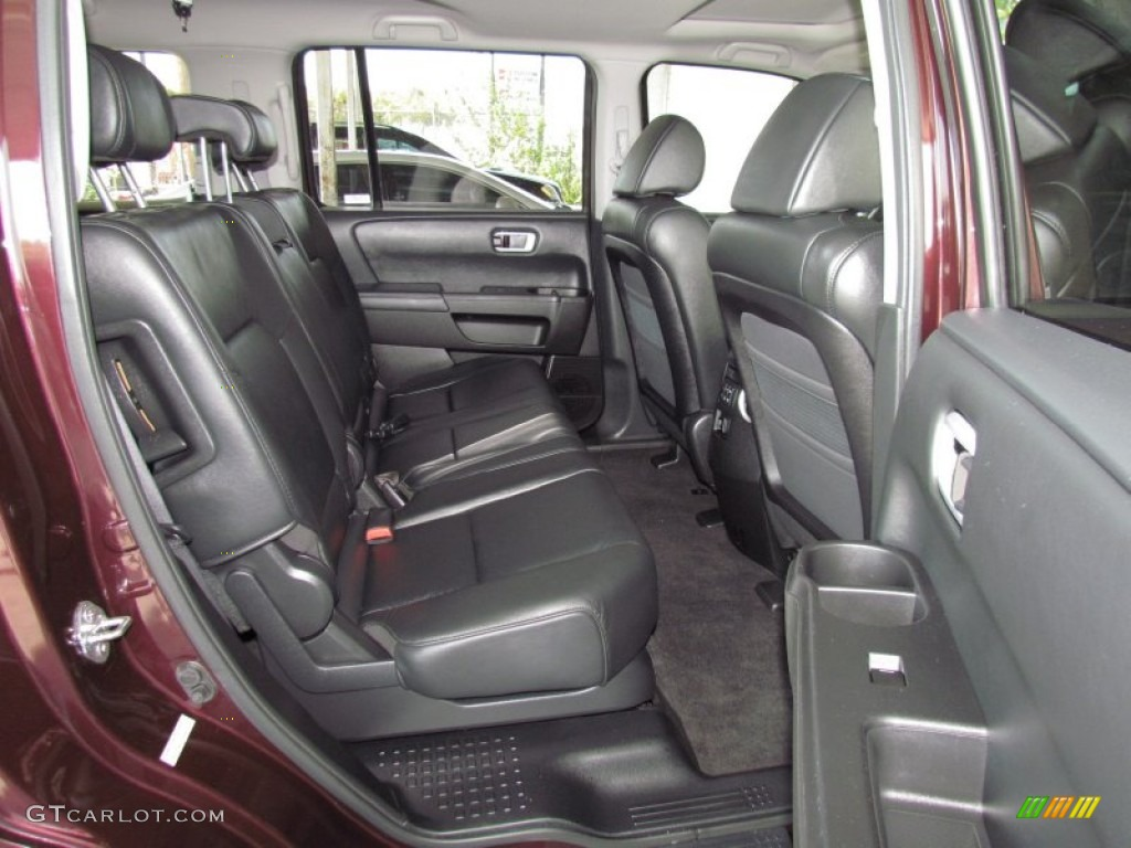 Black Interior 2009 Honda Pilot Ex L Photo 53422030