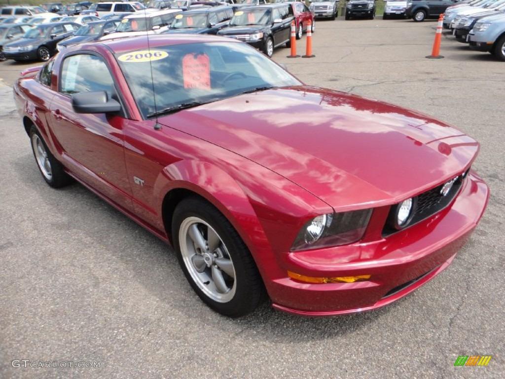 2006 Mustang GT Deluxe Coupe - Redfire Metallic / Dark Charcoal photo #6