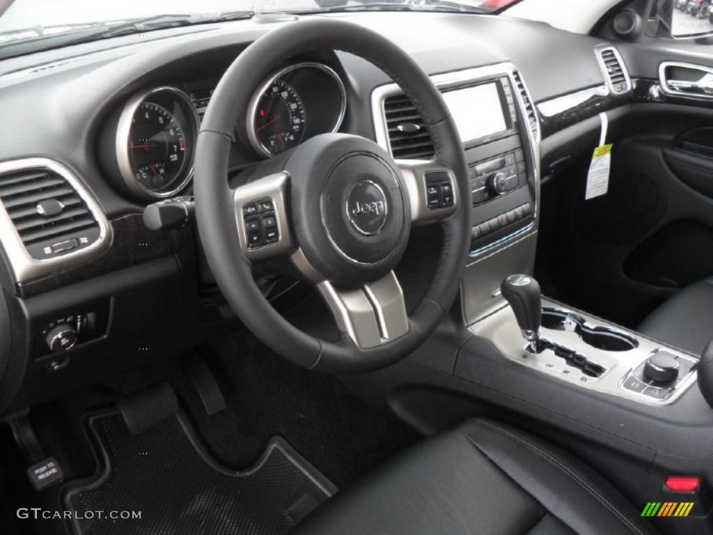 black interior 2012 jeep grand cherokee laredo x package 4x4 photo 53428156. Black Bedroom Furniture Sets. Home Design Ideas