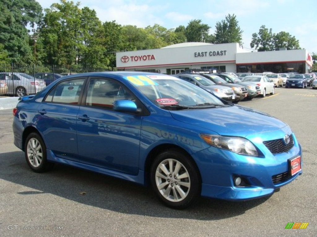 2009 blue streak metallic toyota corolla s 53409707 photo