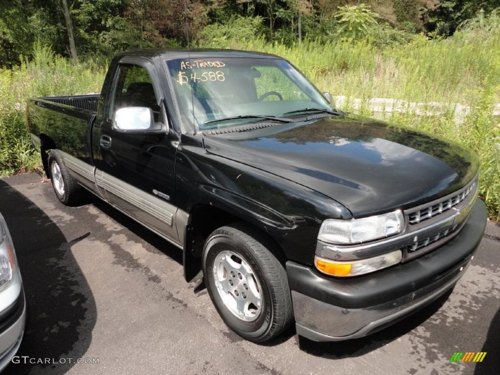 2000 Silverado 1500 Regular Cab - Onyx Black / Graphite photo #1