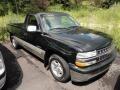 2000 Onyx Black Chevrolet Silverado 1500 Regular Cab  photo #1