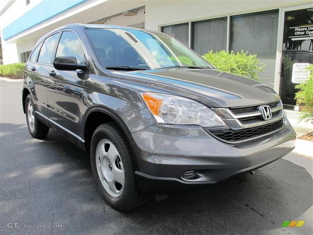 2011 CR-V LX - Polished Metal Metallic / Black photo #1