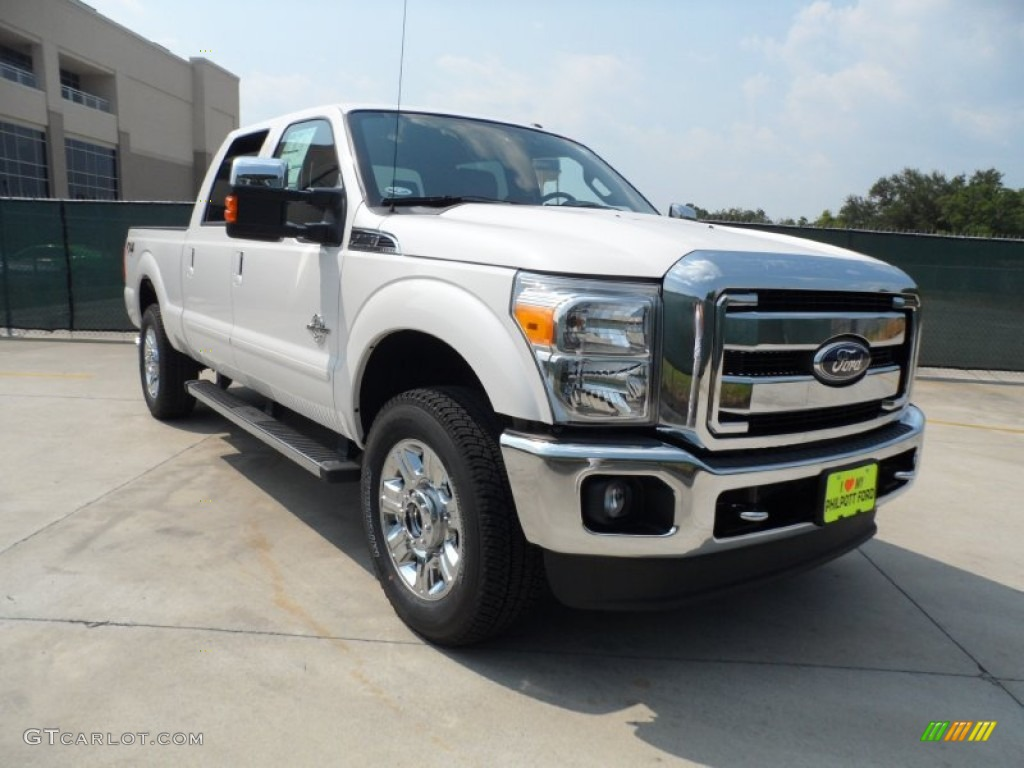 2012 white platinum metallic tri coat ford f250 super duty lariat crew cab 4x4 53409783. Black Bedroom Furniture Sets. Home Design Ideas