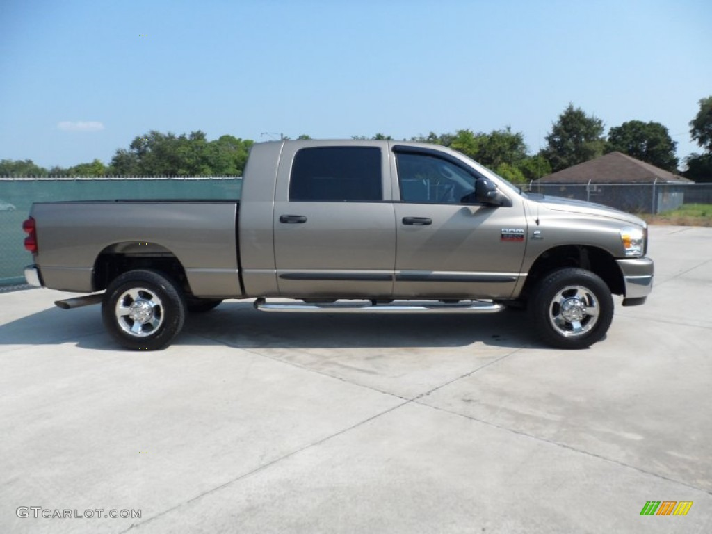 light khaki metallic 2007 dodge ram 2500 slt mega cab 4x4. Black Bedroom Furniture Sets. Home Design Ideas
