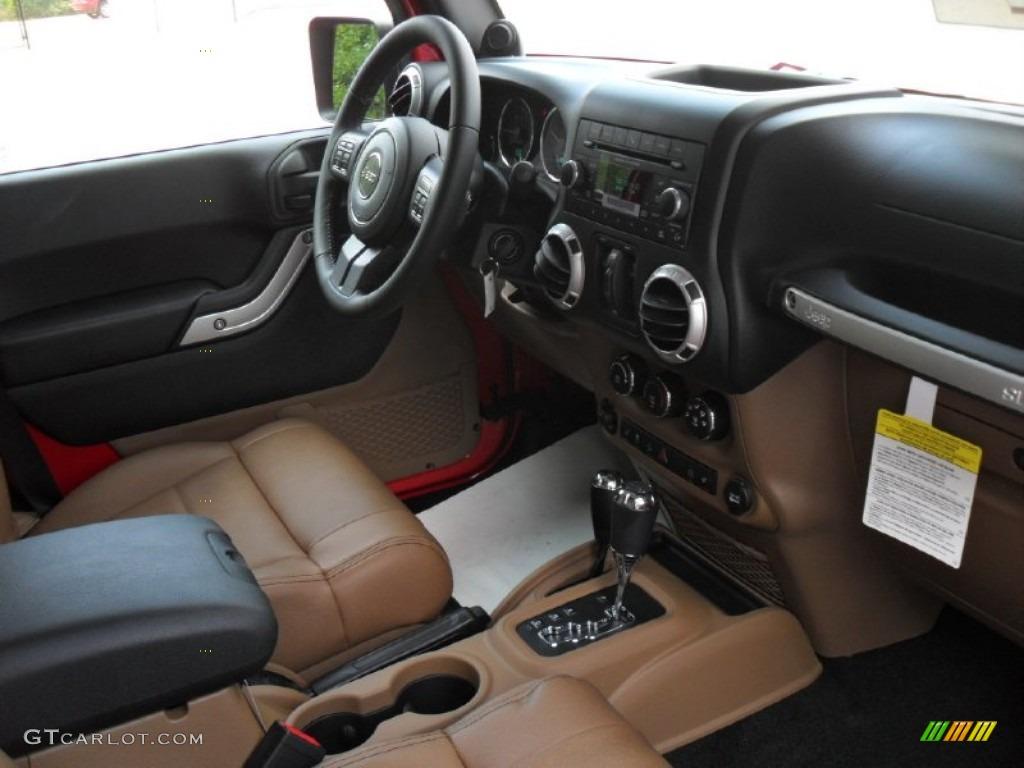 Black Dark Saddle Interior 2012 Jeep Wrangler Unlimited Sahara 4x4 Photo 53467960