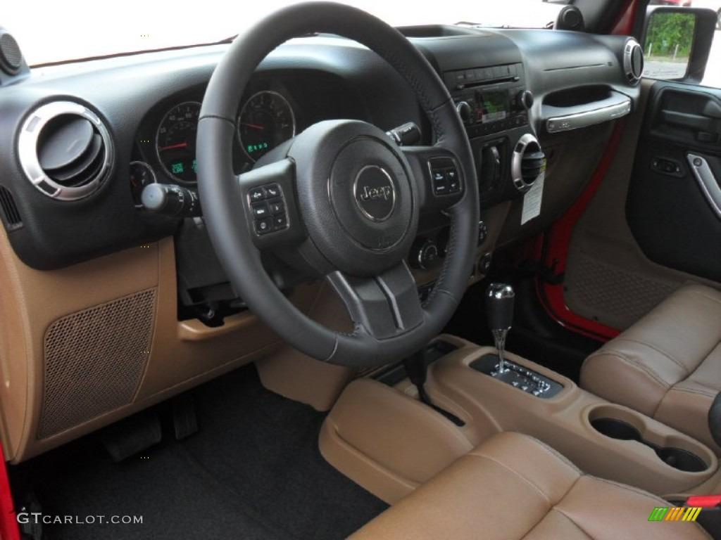Black Dark Saddle Interior 2012 Jeep Wrangler Unlimited Sahara 4x4 Photo 53468035