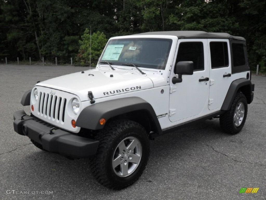 2012 bright white jeep wrangler unlimited rubicon 4x4 53464035 car color galleries. Black Bedroom Furniture Sets. Home Design Ideas