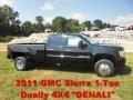 Onyx Black 2011 GMC Sierra 3500HD Denali Crew Cab 4x4 Dually