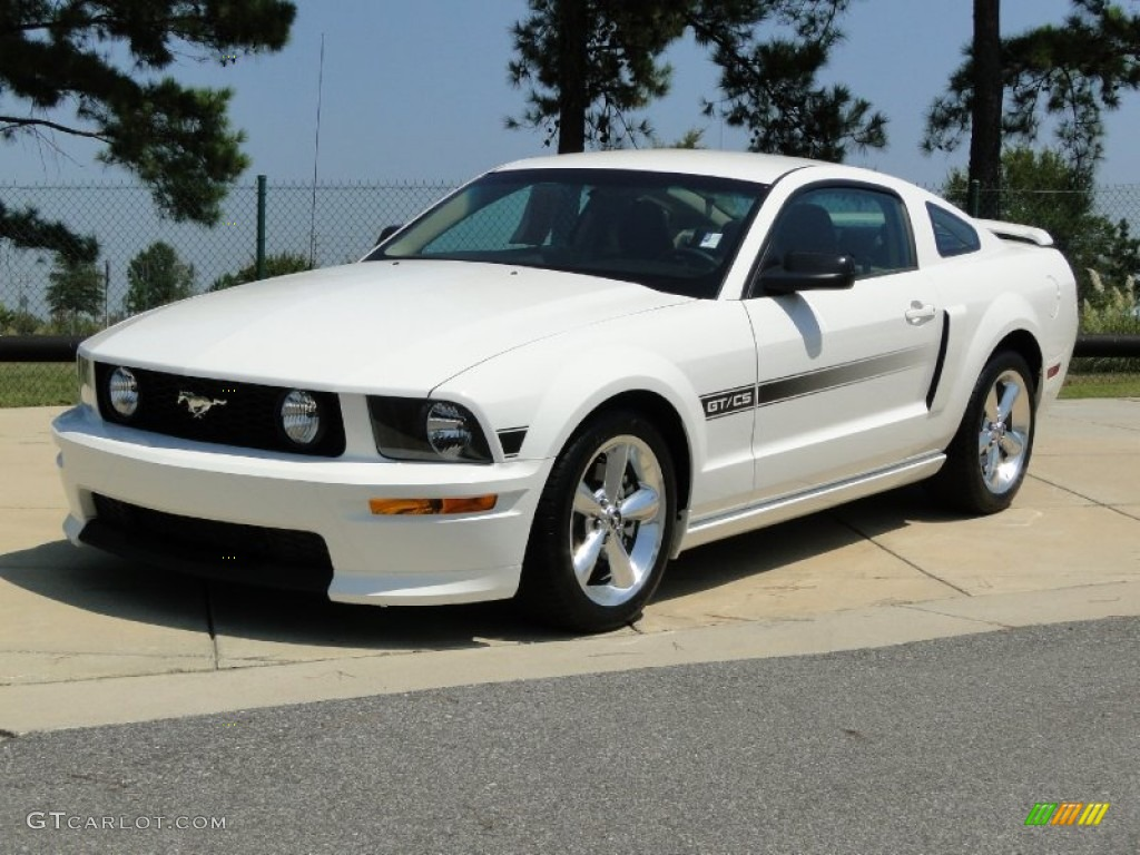 Performance white 2008 ford mustang gt cs california special coupe exterior photo 53487323
