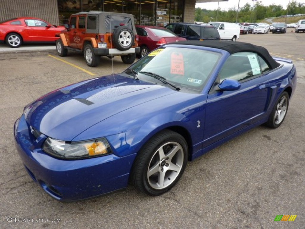 sonic blue metallic 2003 ford mustang cobra convertible exterior photo 53489164. Black Bedroom Furniture Sets. Home Design Ideas
