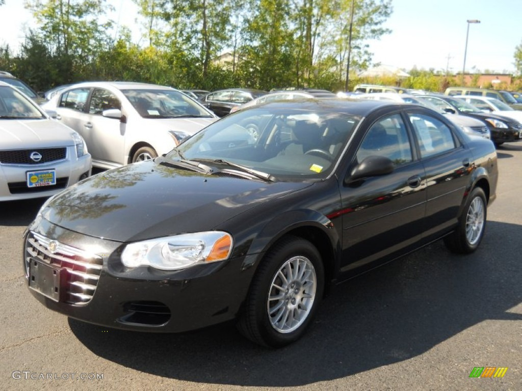 2004 brilliant black crystal chrysler sebring lx sedan. Black Bedroom Furniture Sets. Home Design Ideas