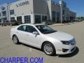 2011 White Platinum Tri-Coat Ford Fusion SEL  photo #1