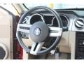 Light Parchment 2006 Ford Mustang GT Premium Coupe Steering Wheel
