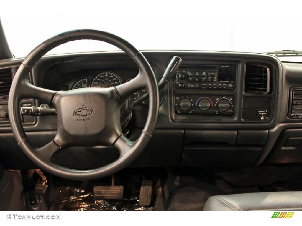 2002 Chevrolet Silverado 1500 LS Extended Cab 4x4 Graphite Gray Dashboard Photo #53545631