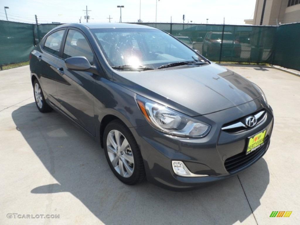 2012 Cyclone Gray Hyundai Accent Gls 4 Door 53463632