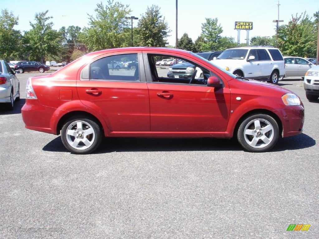 sport red 2007 chevrolet aveo lt sedan exterior photo. Black Bedroom Furniture Sets. Home Design Ideas