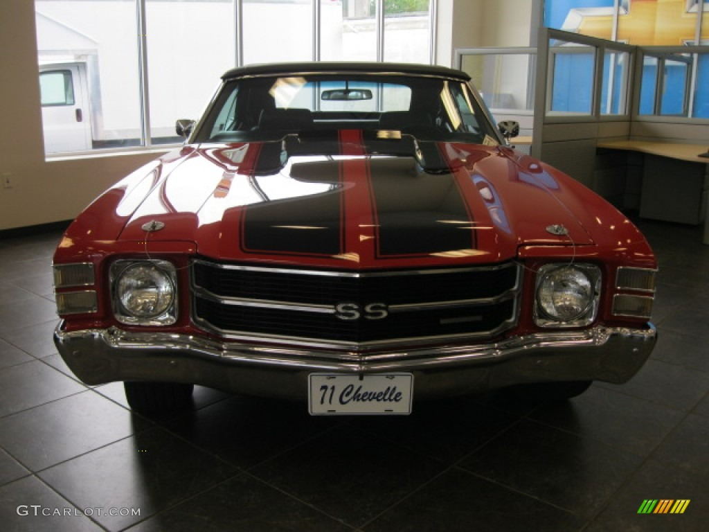 1971 Cranberry Red Chevrolet Chevelle Ss 454 Convertible 53464323 Car Color