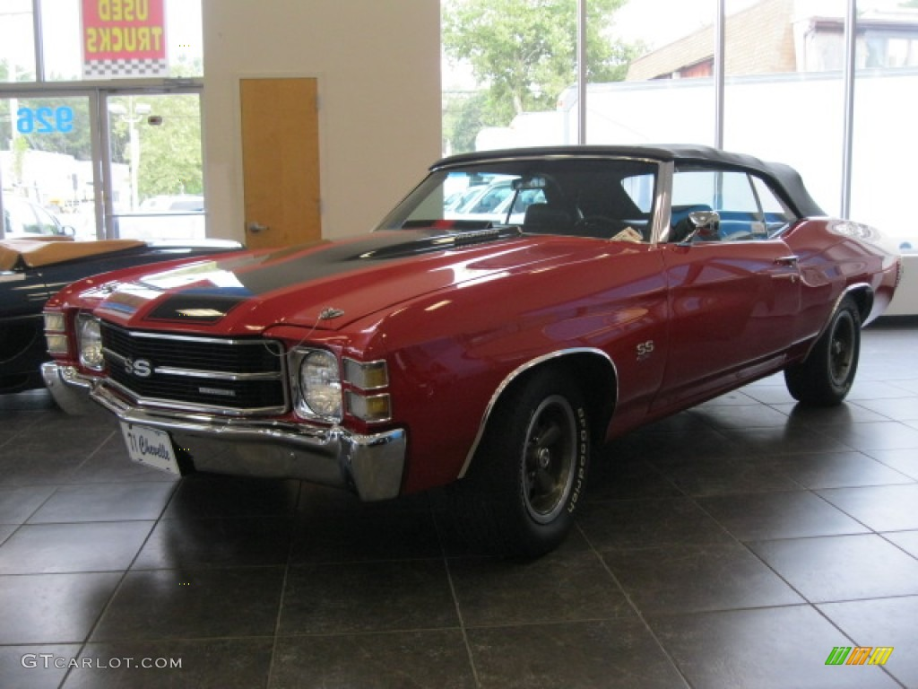 1971 Cranberry Red Chevrolet Chevelle Ss 454 Convertible 53464323 Photo 2 Car