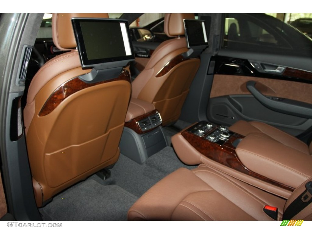 Nougat Brown Interior 2012 Audi A8 L 4 2 Quattro Photo