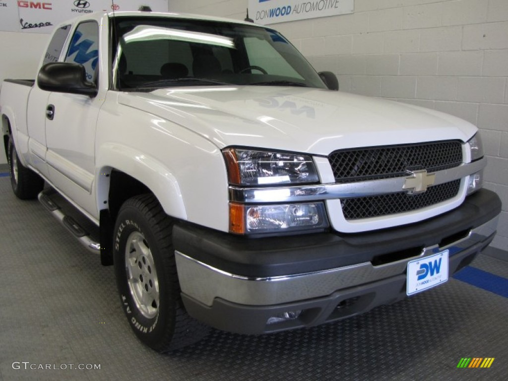 2004 summit white chevrolet silverado 1500 z71 extended. Black Bedroom Furniture Sets. Home Design Ideas