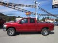 2008 Blaze Red Crystal Pearl Dodge Ram 1500 SXT Quad Cab 4x4  photo #2