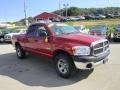 2008 Blaze Red Crystal Pearl Dodge Ram 1500 SXT Quad Cab 4x4  photo #7