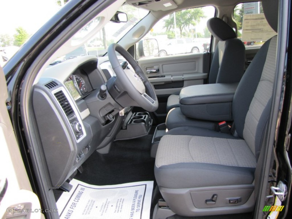 dark slate medium graystone interior 2012 dodge ram 2500 hd big horn crew cab 4x4 photo