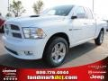 2012 Bright White Dodge Ram 1500 Sport Quad Cab  photo #1
