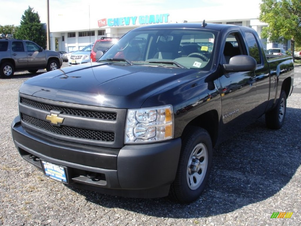 2008 black chevrolet silverado 1500 work truck extended cab 53598282 car color. Black Bedroom Furniture Sets. Home Design Ideas