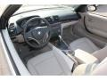 2009 BMW 1 Series Taupe Boston Leather Interior Prime Interior Photo