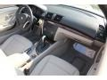 2009 BMW 1 Series Taupe Boston Leather Interior Dashboard Photo