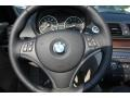 2009 BMW 1 Series Taupe Boston Leather Interior Steering Wheel Photo
