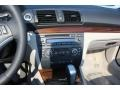 2009 BMW 1 Series Taupe Boston Leather Interior Controls Photo