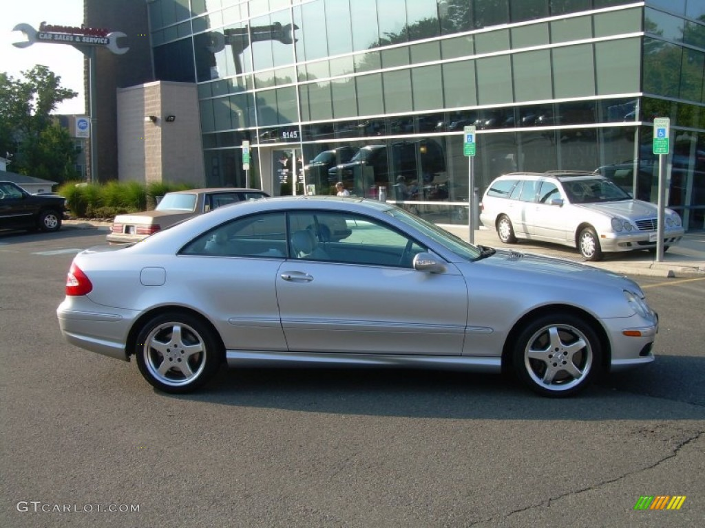2003 brilliant silver metallic mercedes benz clk 500 coupe for 2003 mercedes benz clk