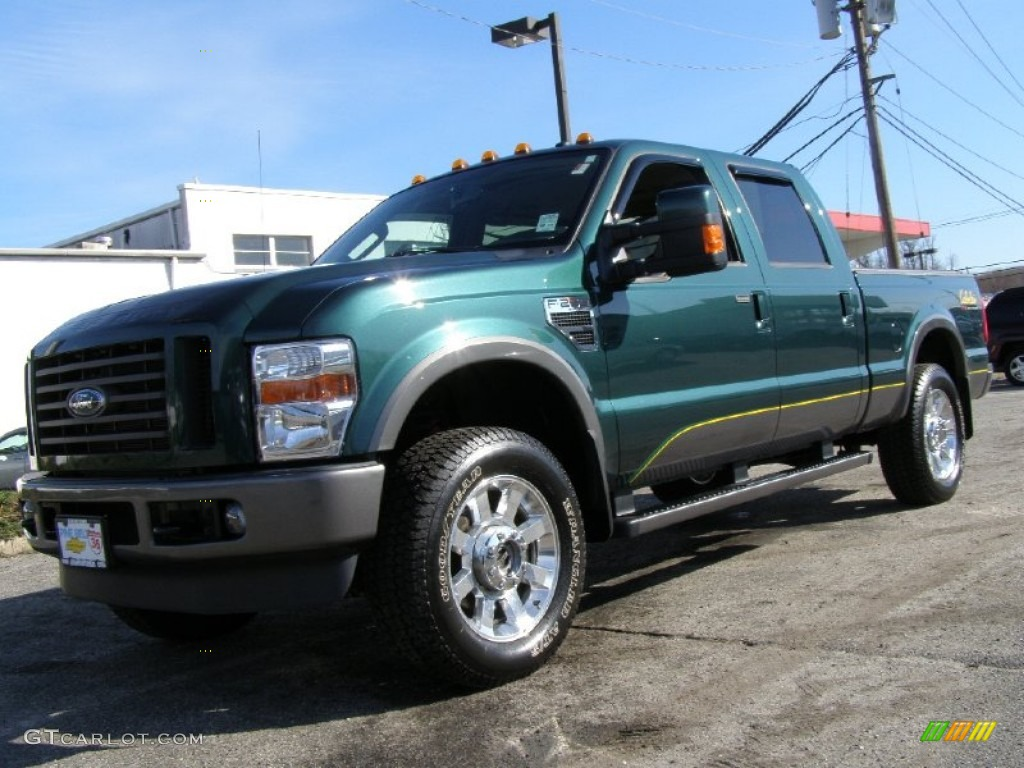 2009 forest green metallic ford f250 super duty cabelas edition crew cab 4x4 53621816. Black Bedroom Furniture Sets. Home Design Ideas