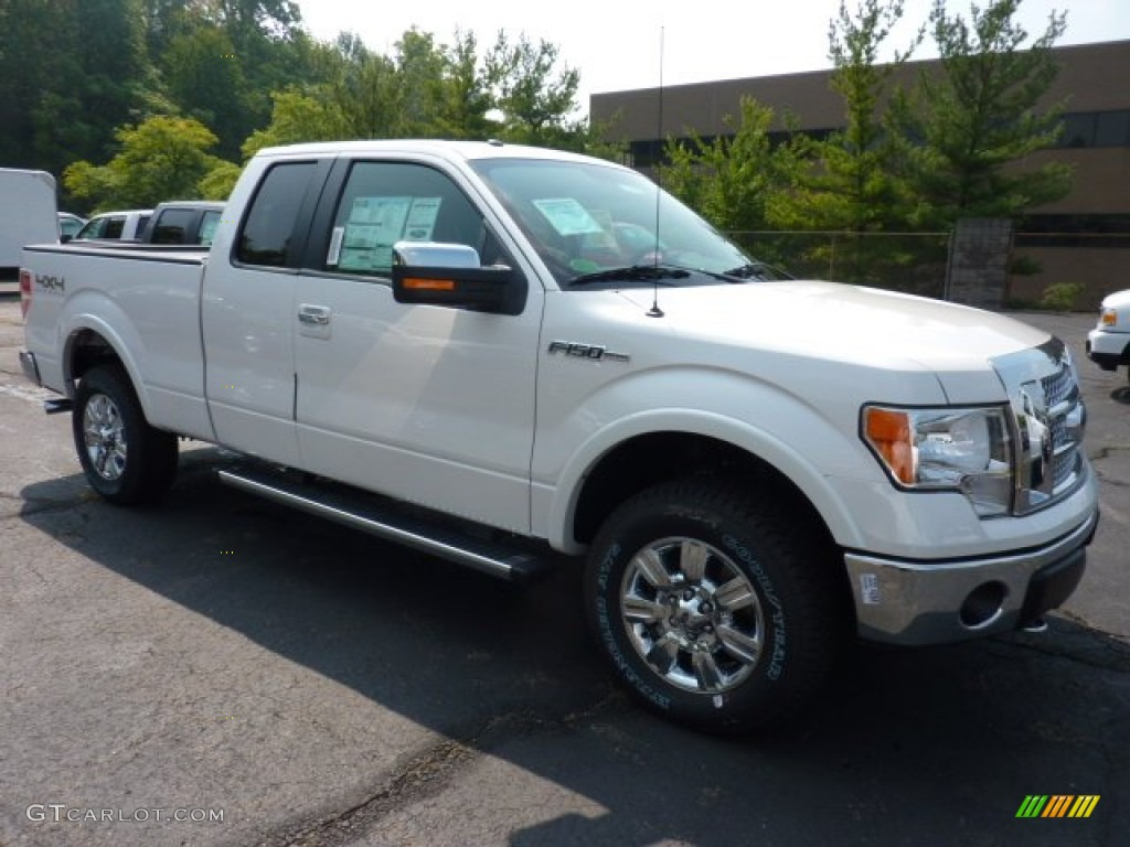2011 white platinum metallic tri coat ford f150 xlt supercab 4x4 53621769 car. Black Bedroom Furniture Sets. Home Design Ideas