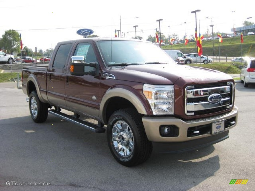 2012 autumn red ford f350 super duty king ranch crew cab 4x4 53647636 photo 4. Black Bedroom Furniture Sets. Home Design Ideas