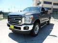 2012 Sterling Grey Metallic Ford F250 Super Duty Lariat Crew Cab 4x4  photo #7