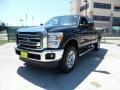 2012 Black Ford F250 Super Duty Lariat Crew Cab 4x4  photo #7