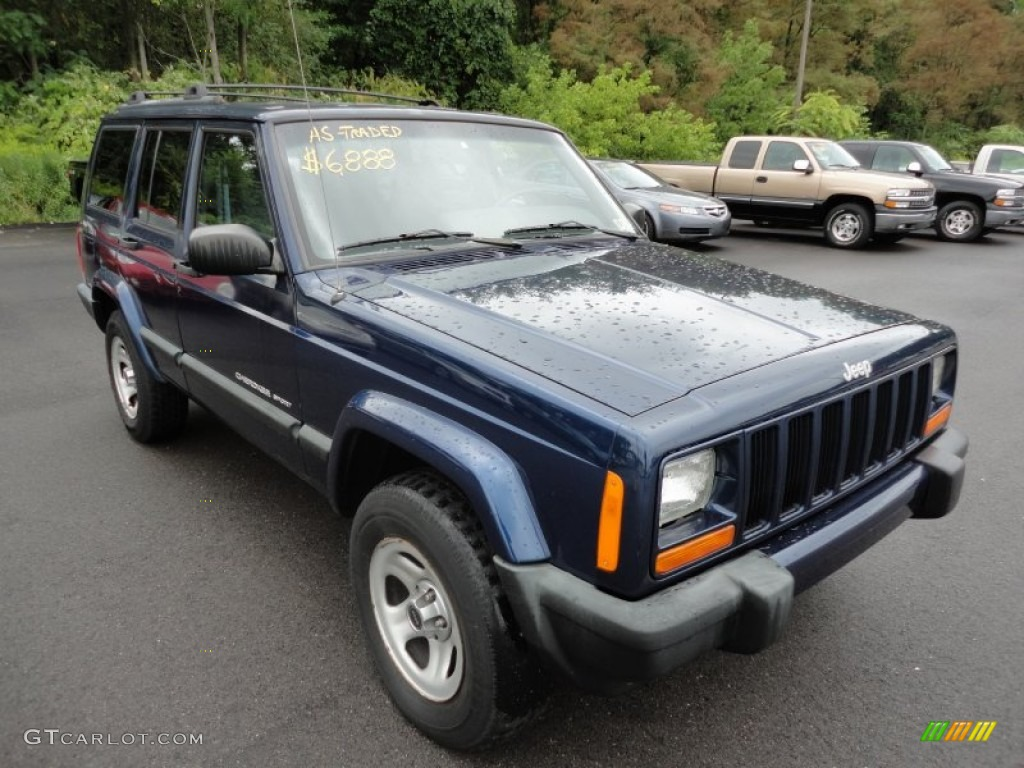 Patriot Blue Pearl 2000 Jeep Cherokee Sport 4x4 Exterior Photo 53666056