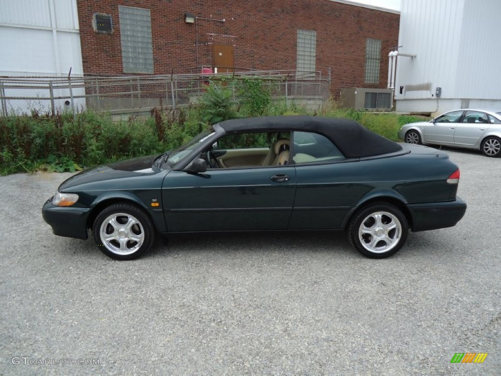 scarabe green metallic 1999 saab 9 3 se convertible exterior photo 53666503. Black Bedroom Furniture Sets. Home Design Ideas